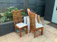 Free 2 solid wood chairs to collect ASAP