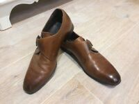 Roland Cartier Tan mens slip on buckle shoes. Hardly worn. Size 8