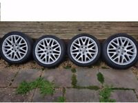 """VAUXHALL XP2 GENUINE SET OF 18"""" Alloy Wheels with tyres 225/45/18 5x110"""