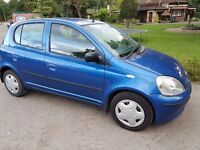 2001 TOYOTA YARIS 1.0 GLS VVTI 16V LADY OWNER F/S/H IN VERY GOOD CONDITION