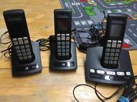 BT edge 1500 trio cordless phones