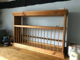 Wooden plate rack for wall hanging