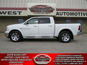 2012 Dodge Ram 1500 LARAMIE CREW 4X4, 5.7 HEMI V8, LEATHER, DVD,