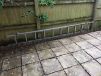 Set of aluminium ladders