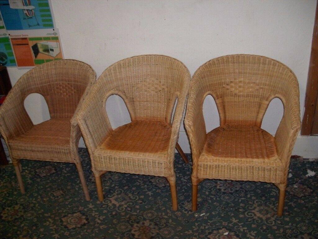 3 Rattan Chairs ID 60/11/17