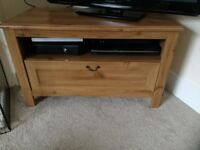IKEA oak effect tv cabinet/stand