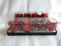 Christmas Floral Napkin Rings 8 pieces