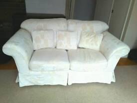 Cream 2/3 seater sofa
