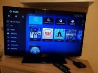 """Samsung 40"""" Smart led tv with android wifi box"""