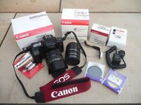 Canon EOS 1000FN 35mm Film Camera, EF 28-105 mm, f 3.5- 4.5 Ultrasonic Zoom Lens & Accessories.