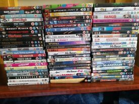 68 DVDs used cheap to clear