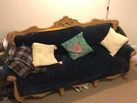 *REDUCED* Carved Wood Sofa
