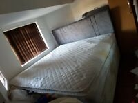 Super king size bed divan base with drawers