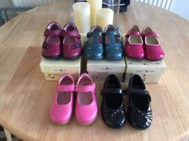 5 pairs of excellent condition girls shoes = start rite, max+may and clarks