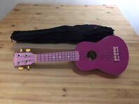 Stagg pink guitar