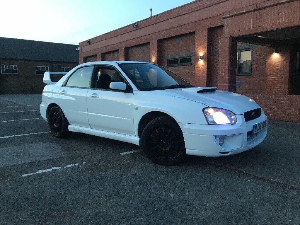Subaru Impreza Wrx Turbo In White Hpi Clear Boost Gauge Sti Blue With Rims Spoiler Drives
