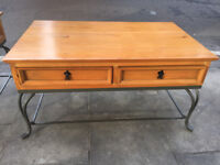 Coffee Table with 4 drawers ( 2 each side ) £50 Size L 39in D 24in H 20in.
