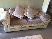 Three Seater & Two Seater Sofa & Foot Stool