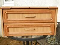 set of drawers for a caravan