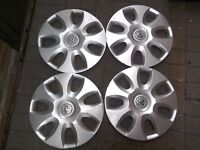 15 inch Vauxhall wheel trims x 4