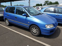 2001 MITSUBISHI SPACE STAR 1.3 PETROL VERY LOW MILES AIR CON 4 BRAND NEW TYRES CHEAP TO RUN BARGAIN