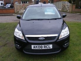 FORD FOCUS 1.8 STYLE 5 DOOR IN BLACK 2008 NEW SHAPE