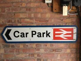 """""""Car Park"""" Sign"""