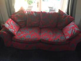 Wonderful red and grey sofa