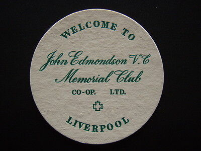JOHN EDMONDSON V.C. Souvenir CLUB CO-OP LTD LIVERPOOL COASTER