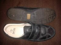 Size 7 'Hotter' Brand Trainer Style Black Shoe - Worn Once, Cost £60+