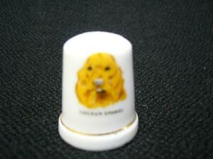 PORCELAIN DOG THIMBLES