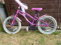 Girl's bike, for around 5 year old.