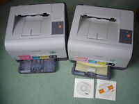 Samsung CLP300 Colour Laser Printer - almost OK prints + one for Spare parts.