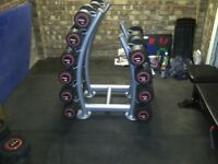 Escape Dumbbells-12kg-30kg Inc Rack-FREE UK DELIVERY £1350 ONO