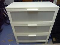 Ikea Aneboda White 3 drawer unit