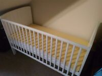 Well maintained Baby cot and bed for sale