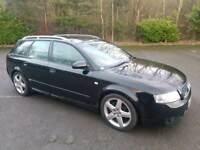 2004 AUDI A4 2.0 FSI SPORT 5 DOOR ESTATE BLACK 12 MONTHS M.O.T