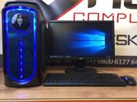 New Fast Gaming PC Quad Core 8GB Ram 128GB SSD Windows 10 Free Delivery
