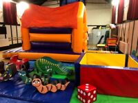 GRAND SOFT PLAY COMBO: Hire a Bouncy Castle with Slide, Ball Pit and Soft Play in Carshalton.