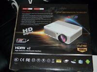 led projector full hd 1080p +el.screen £210