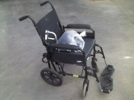 new condition lomax wheelchair with new extenders