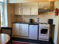 Single, self contained studio, above the park in Beeston, LS11