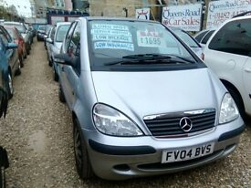 2004 mercedes A140 1.4 petrol only 49.000 miles 2 owners from new ideal first car