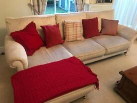 Red/gold Cushions and Throw