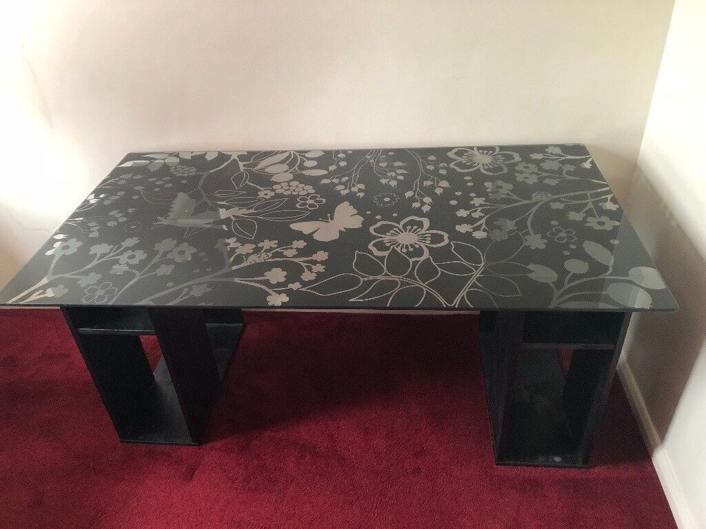 Ikea vika glasholm desk butterfly flower bird office bedroom