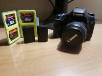 Canon 7d mk1 with 18-55mm lens, 2 batteries & 56GB of CF storage