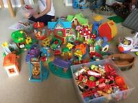 Elc happyland and fisher price little people