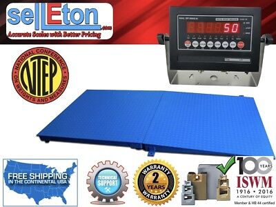 New Ntep Legal Industrial 48 X 96 4 X 8 Floor Scale With Ramp 10000 X 2 Lb