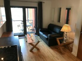 MODERN 1 BED FLAT WITH BALCONY IN CITY CENTRE - NO FEES