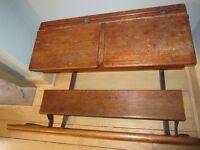 Antique Victorian Double School Desk